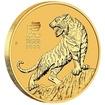 Lunární série III. - zlatá mince Year of the Tiger (Rok tygra) 1/4 Oz 2022