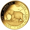 Zlatá mince 100 Schillings Elephant (Slon africký) 1/10 Oz 2022 (African Wildlife Series)