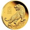 Lunární série III. - zlatá mince Year of the Tiger (Rok tygra) 1/4 Oz 2022 PROOF