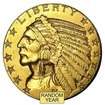 Historická zlatá mince Half Eagle 5 USD Indian Head