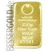 Zlatý slitek Münze Österreich 250 g