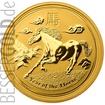 Zlatá mince 1/10 oz (trojské unce) ROK KONĚ Austrálie 2014