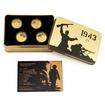 Sada čtyř zlatých mincí Válečný rok 1943 proof