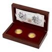 Sada dvou zlatých mincí Zlatá růže od papeže proof