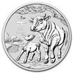 Perth Mint Stříbrná mince Year of the Ox - Rok Buvola 1 oz (2021)