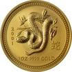 Zlatá investiční mince Year of the Snake Rok Hada Lunární 1 Oz 2001