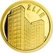 Zlatá mince Zlín - Baťův mrakodrap 2018 Proof