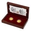 Sada dvou zlatých mincí Zlatá růže od papeže 2018 Proof