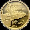 Zlatá mince 5000 Kč Barokní most v Náměšti nad Oslavou 2012 Proof