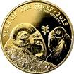 Zlatá investiční mince Rok Ovce Lunární The Royal Mint 1 Oz 2015