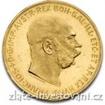 Zlatá mince Stokoruna Františka Josefa I.-novoražba 100 koruna