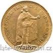 Zlatá mince Dvacetikoruna Františka Josefa I. uherská ražba ročníková 1901 20 koruna
