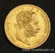 Zlatá mince Osmizlatník Františka Josefa I.rakouská ražba 1888 8 zlatník