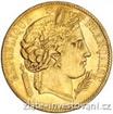 Zlatá mince francouzský dvacetifrank-Ceres 20 frank