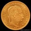 Zlatá mince Osmizlatník Františka Josefa I.-uherská ražba 1877 8 zlatník
