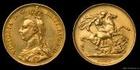 Zlatá mince britská Dvoulibra-Victoria 1887 Double sovereign
