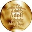 Česká jména - Adolf - zlatá medaile