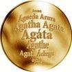 Česká jména - Agáta - zlatá medaile