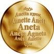 Česká jména - Aneta - zlatá medaile