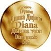 Česká jména - Diana - zlatá medaile