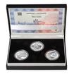 MOST V LENOŘE - JIŽNÍ ČECHY – návrhy mince 5000,-Kč sada tří Ag medail