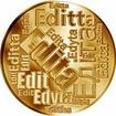 Česká jména - Edita - velká zlatá medaile 1 Oz