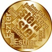 Česká jména - Ester - velká zlatá medaile 1 Oz