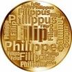 Česká jména - Filip - velká zlatá medaile 1 Oz