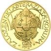 Nevydané mince Jiřího Harcuby - Zal. kláštera Zlatá Koruna 34mm zlato