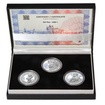 JAN HUS - sada I. – návrhy mince 10000,-Kč sada tří Ag medailí 1 Oz Pr