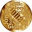 Česká jména - Jonáš - velká zlatá medaile 1 Oz