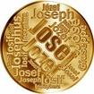 Česká jména - Josef - velká zlatá medaile 1 Oz