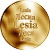 Slovenská jména - Lesia - velká zlatá medaile 1 Oz