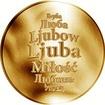 Česká jména - Ljuba - zlatá medaile