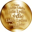 Česká jména - Lýdie - zlatá medaile