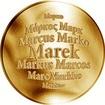 Česká jména - Marek - zlatá medaile