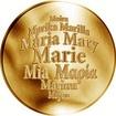Česká jména - Marie - zlatá medaile