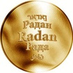 Česká jména - Radan - zlatá medaile
