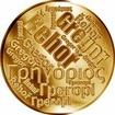 Česká jména - Řehoř - velká zlatá medaile 1 Oz