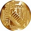 Česká jména - Šimon - velká zlatá medaile 1 Oz