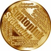 Česká jména - Svatopluk - velká zlatá medaile 1 Oz
