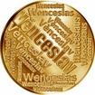 Česká jména - Věnceslav - velká zlatá medaile 1 Oz