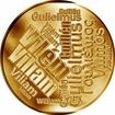 Česká jména - Vilém - velká zlatá medaile 1 Oz