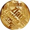 Česká jména - Zlata - velká zlatá medaile 1 Oz