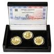 ZALOŽENÍ ČESKÝCH BUDĚJOVIC – návrhy mince 200 Kč - sada 3x zlato Proof