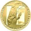 Nevydané mince Jiřího Harcuby - Sestrojení Staroměstského orloje 34mm zlato Proof