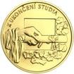 K ukončení studia 25 mm zlato b.k.