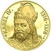 Karel IV., král a císař - 700. výročí narození zlato b.k.