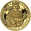 Korunovace Václava II. českým králem - zlato Proof