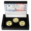 PRVNÍ DÁLKOVÝ LET JANA KAŠPARA – návrhy mince 200 Kč - sada 3x zlato Proof